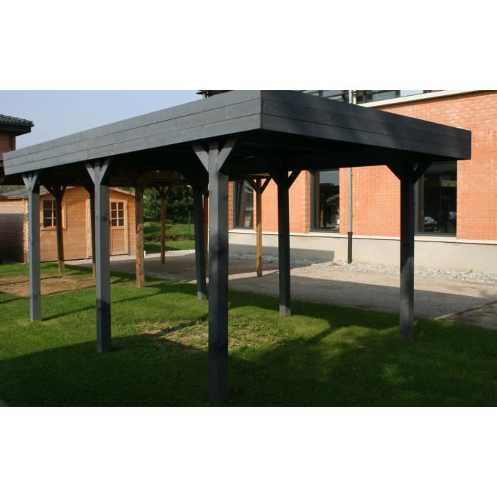 madeira louison carport autoportant en bois 13 10 m2 comparer avec. Black Bedroom Furniture Sets. Home Design Ideas