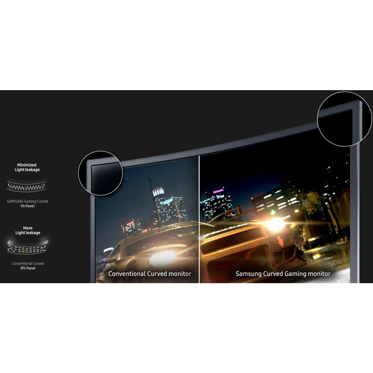 Samsung c27fg70fqu cran led incurv 27 comparer avec for Ecran led exterieur prix