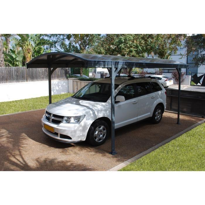 chalet et jardin delage 5000 carport 1 voiture en acier. Black Bedroom Furniture Sets. Home Design Ideas