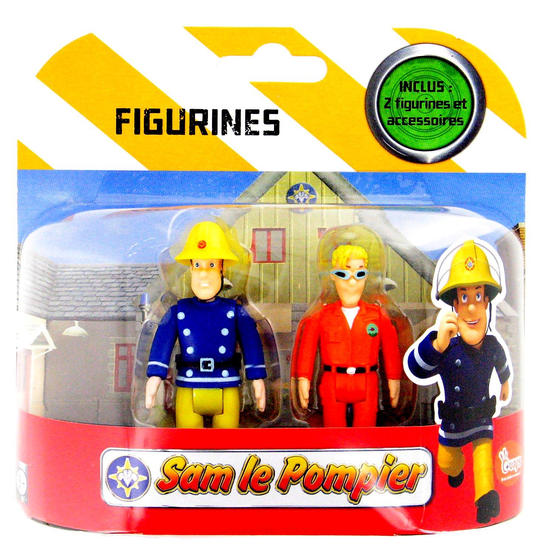 pack de 2 figurines sam le pompier sam tom thomas comparer avec. Black Bedroom Furniture Sets. Home Design Ideas