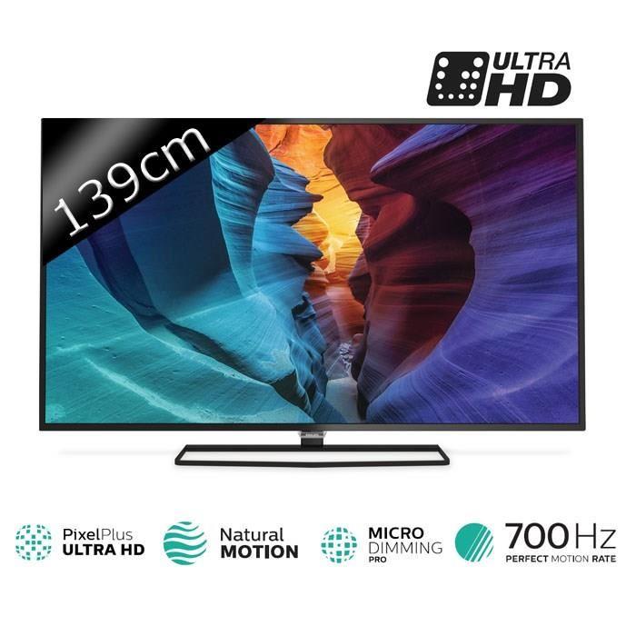 philips 55puh6400 t l viseur led 139 cm 3d 4k smart tv comparer avec. Black Bedroom Furniture Sets. Home Design Ideas