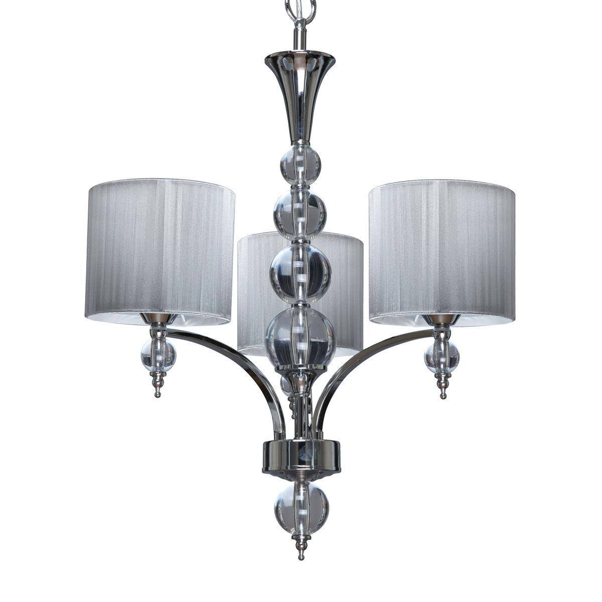spotlight lyon lustre 3 branches avec abat jours tissus comparer avec. Black Bedroom Furniture Sets. Home Design Ideas