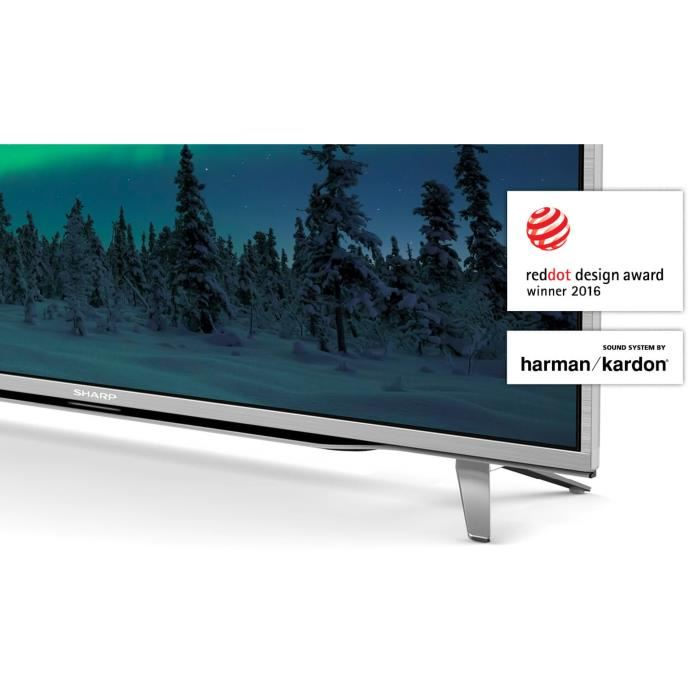 sharp lc 55cuf8472es t l viseur led 140 cm 4k comparer avec. Black Bedroom Furniture Sets. Home Design Ideas