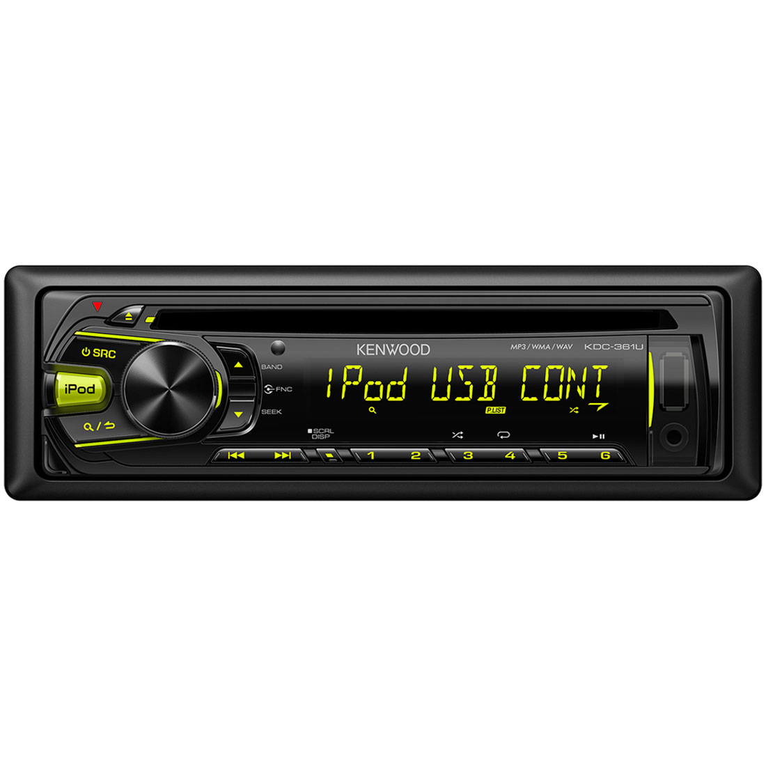 kenwood kdc 361u autoradio cd mp3 usb ipod 4 x 50 watts comparer avec. Black Bedroom Furniture Sets. Home Design Ideas