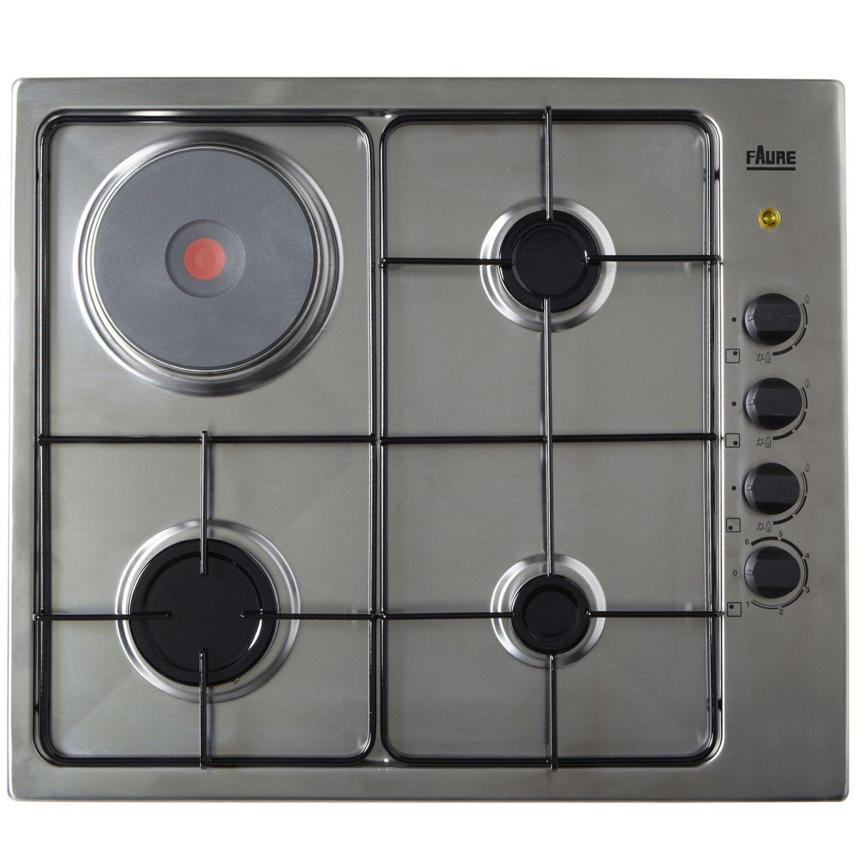 faure fgm62444 table de cuisson mixte gaz et lectrique 4 foyers comparer avec. Black Bedroom Furniture Sets. Home Design Ideas
