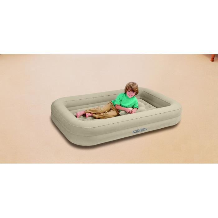 intex lit d 39 appoint enfant floqu 1 place avec gonfleur 107 x 168 cm comparer avec. Black Bedroom Furniture Sets. Home Design Ideas