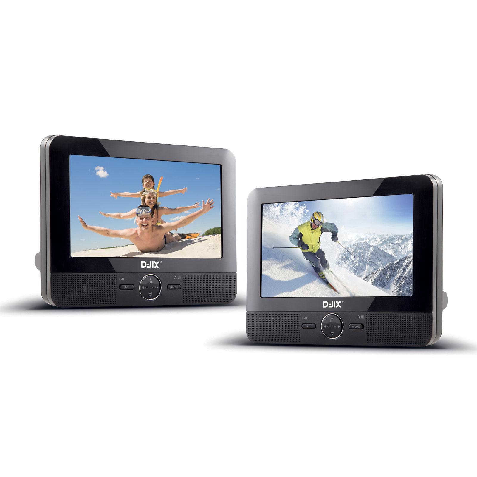 d jix pvs 705 59hdp lecteur dvd portable avec 2 crans et 2 lecteurs comparer avec. Black Bedroom Furniture Sets. Home Design Ideas