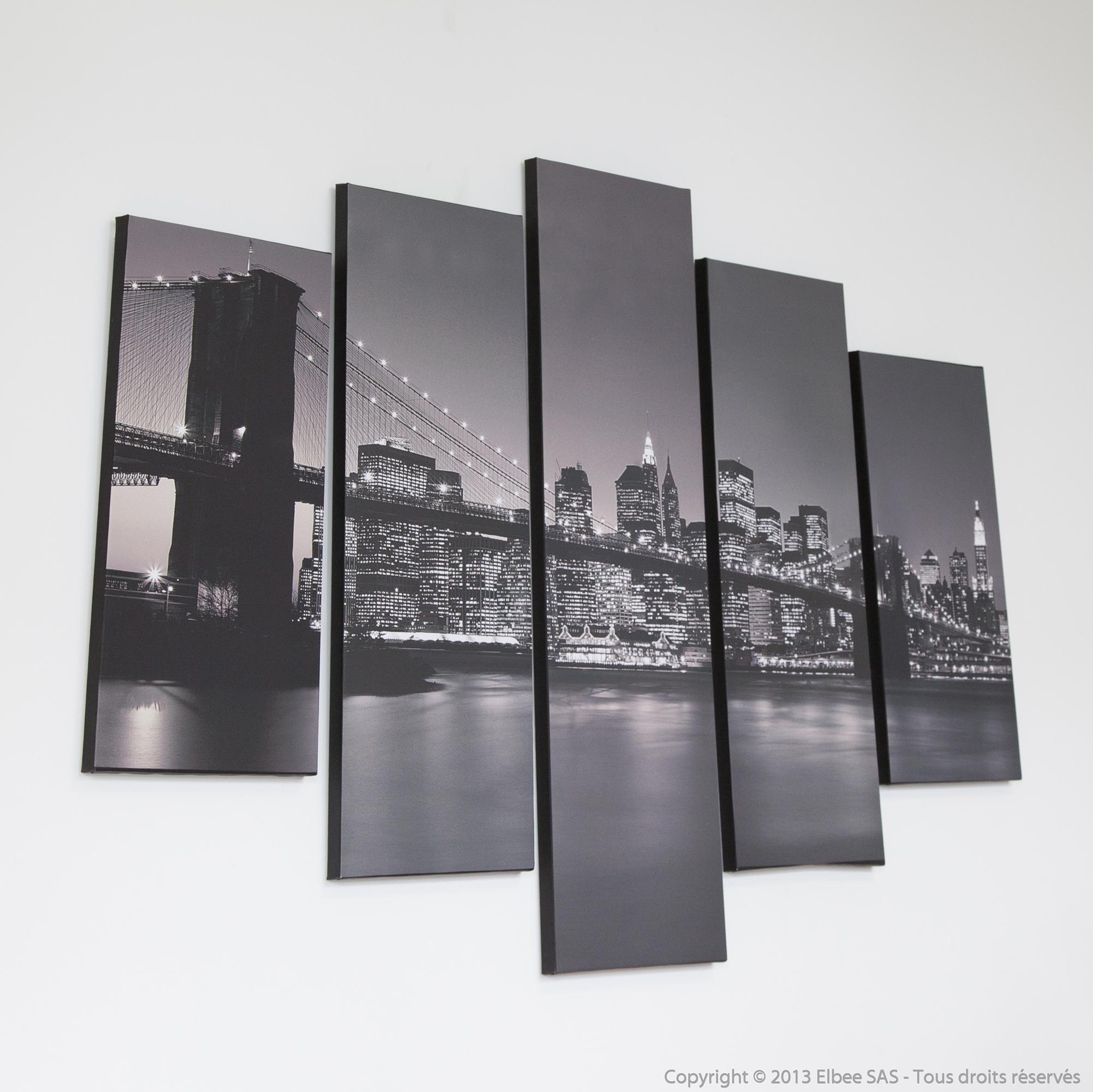 Graham brown set de 5 toiles london 150 x 100 cm comparer avec tous - Cadre new york noir et blanc ...