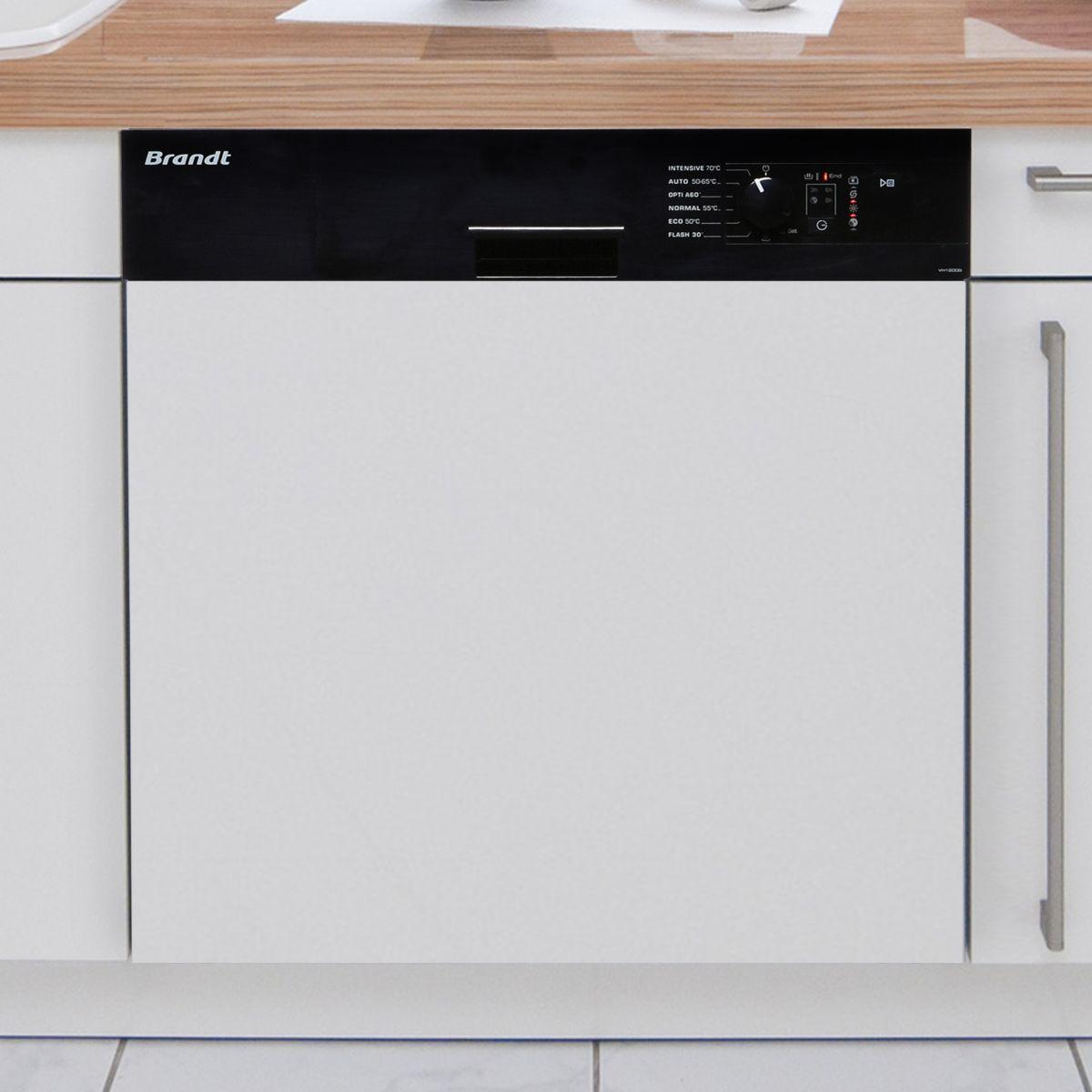 Brandt vh1200 lave vaisselle int grable 13 couverts comparer avec tousles - Lave vaisselle brandt noir ...