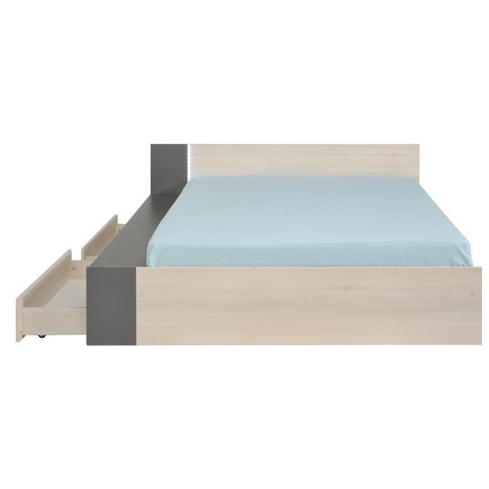 Swithome write lit adulte avec tiroirs 140 x 190 200 cm comparer avec t - Lit adulte avec tiroir ...