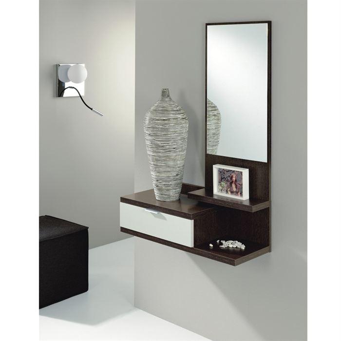 meuble d 39 entr e dino 2 avec miroir comparer avec. Black Bedroom Furniture Sets. Home Design Ideas