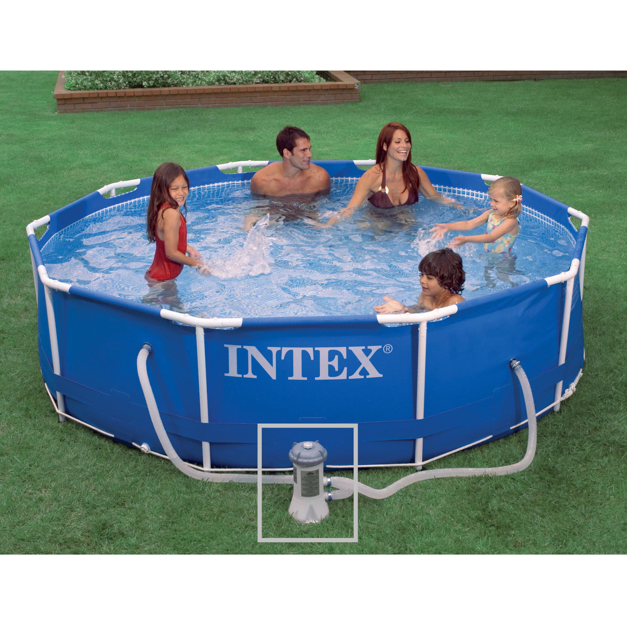 intex 28202fr piscine hors sol tubulaire ronde 305 x. Black Bedroom Furniture Sets. Home Design Ideas