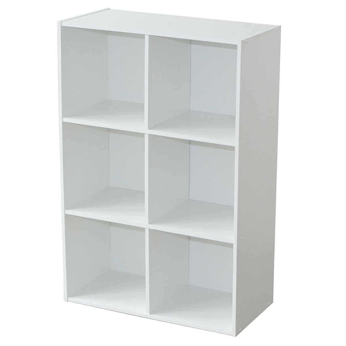 Matelpro meuble de rangement module 6 cases et 4 tag res for Meuble 6 cases