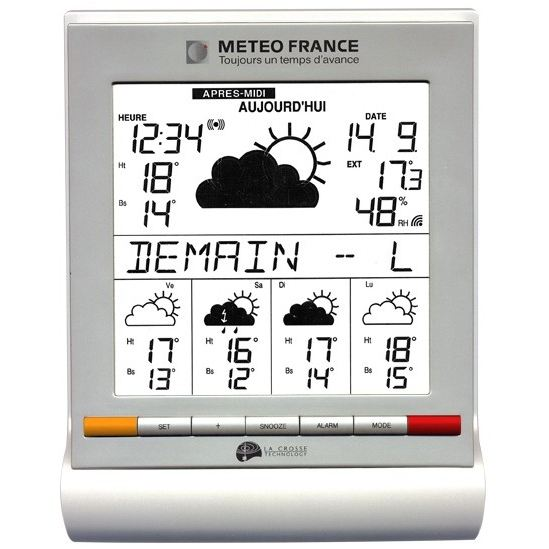 La crosse technology wd9541 station m t o temp rature for Station meteo temperature interieure et exterieure