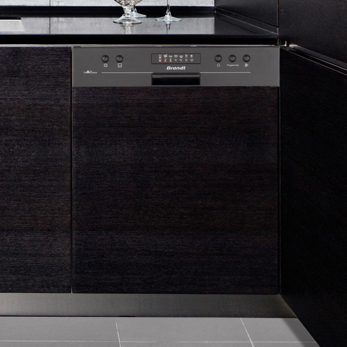 Brandt vh1505 lave vaisselle encastrable 13 couverts comparer avec tousle - Lave vaisselle brandt noir ...