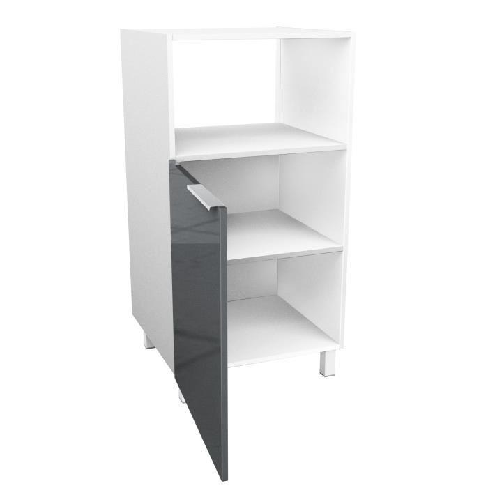 caisson demi colonne pour micro onde haute brillance avec. Black Bedroom Furniture Sets. Home Design Ideas