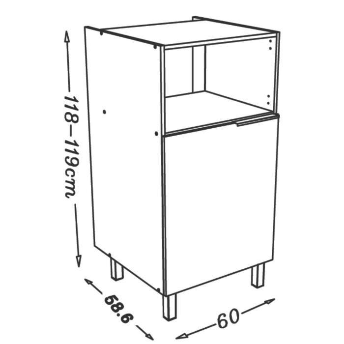 caisson demi colonne pour micro onde haute brillance avec caisson en m lamine comparer avec. Black Bedroom Furniture Sets. Home Design Ideas