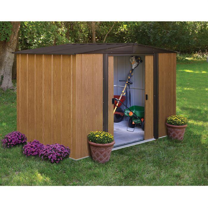 Chalet et jardin bm 86 abri de jardin en m tal aspect for Jardin prix m2