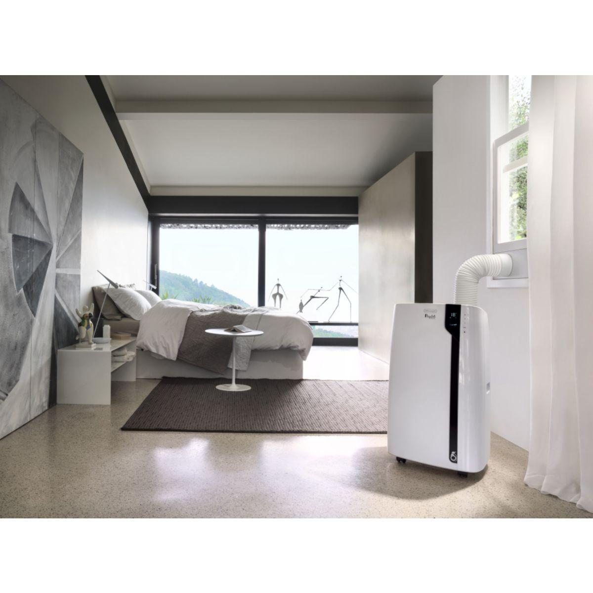 delonghi pac ex100 silent climatiseur monobloc mobile comparer avec. Black Bedroom Furniture Sets. Home Design Ideas
