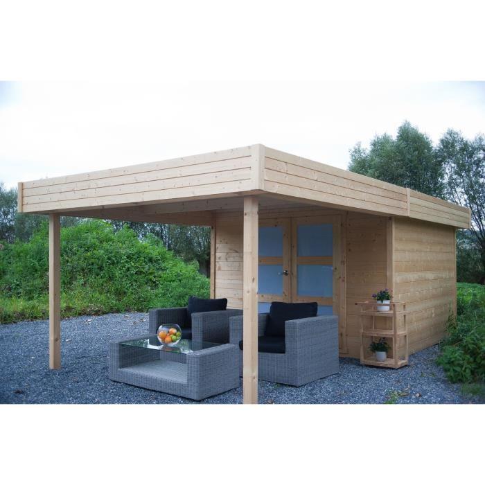 Solid s8322 abri de jardin aalborg en bois 28 mm 8 73 m2 for Jardin prix m2