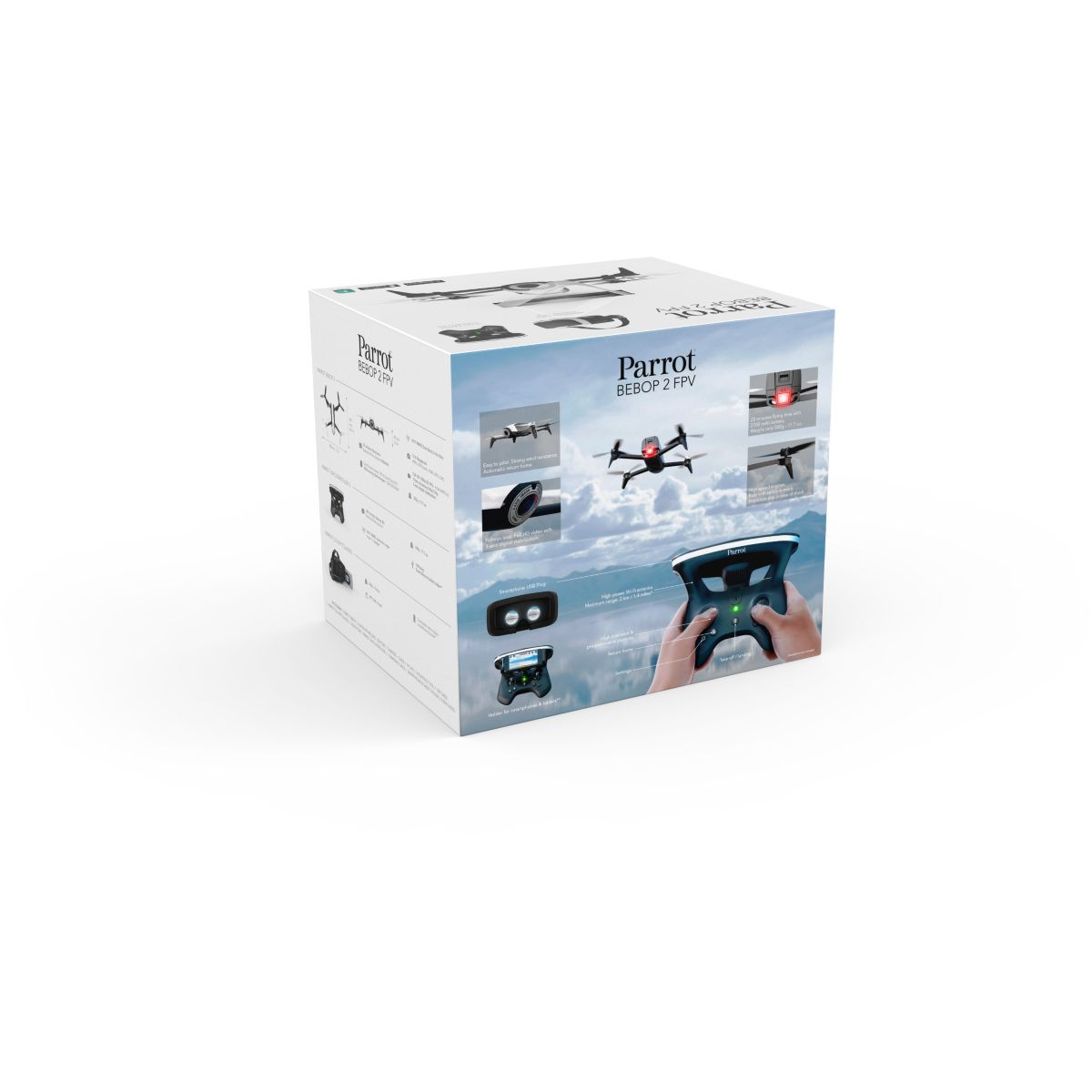 parrot bebop 2 avec pack fpv comparer avec. Black Bedroom Furniture Sets. Home Design Ideas