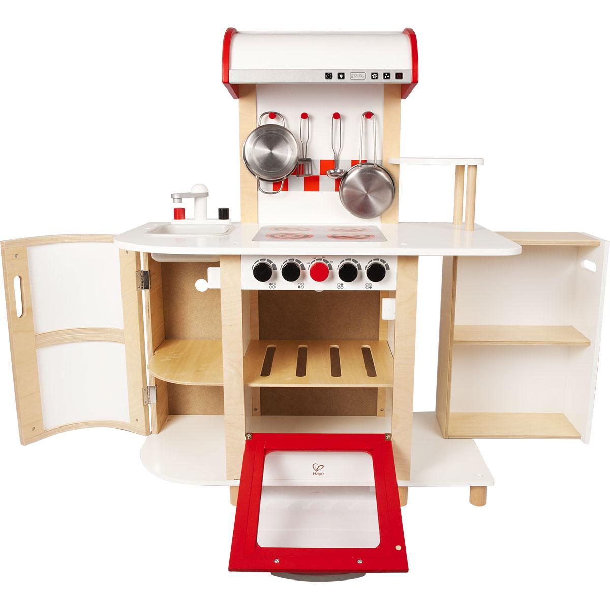 Hape e8018 cuisine multifonction en bois comparer avec for Cuisine hape