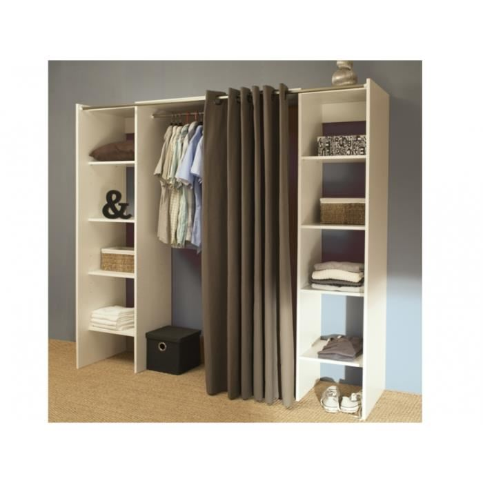 armoire dressing extensible emeric comparer avec. Black Bedroom Furniture Sets. Home Design Ideas