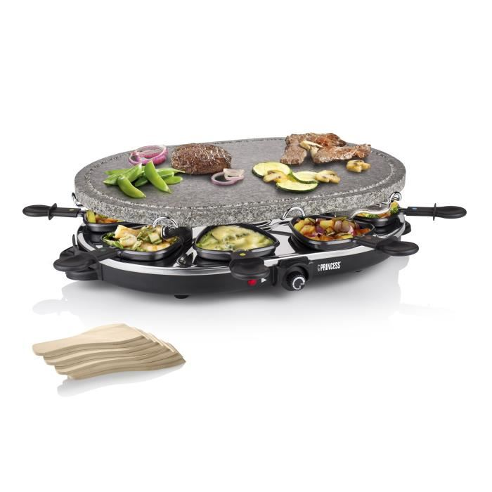 princess 162720 raclette et pierre griller 2 en 1 ovale pour 8 personnes comparer avec. Black Bedroom Furniture Sets. Home Design Ideas