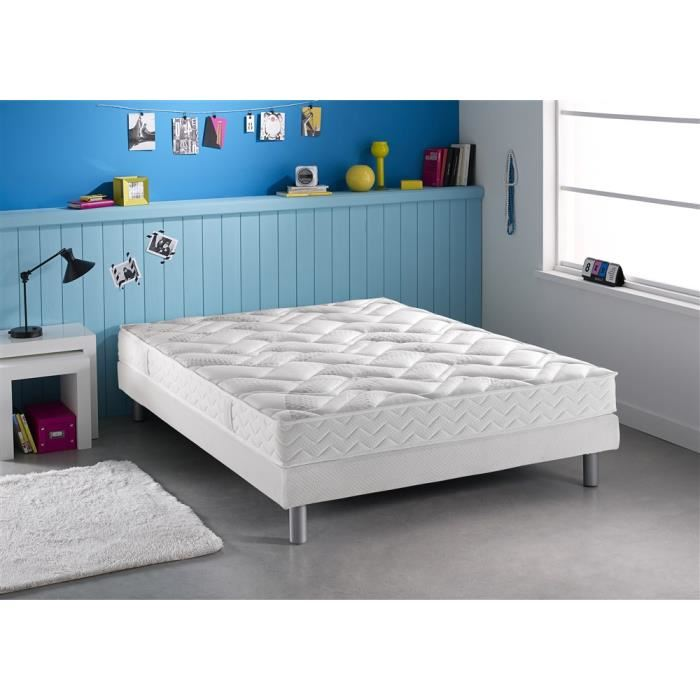 dunlopillo ensemble matelas et sommier bruges avec pieds. Black Bedroom Furniture Sets. Home Design Ideas
