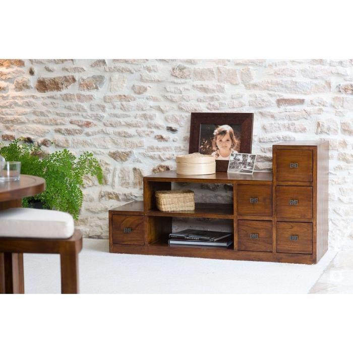 Vania meuble tv escalier volta 6 tiroirs 2 niches comparer avec - Atylia meubles decoration ...