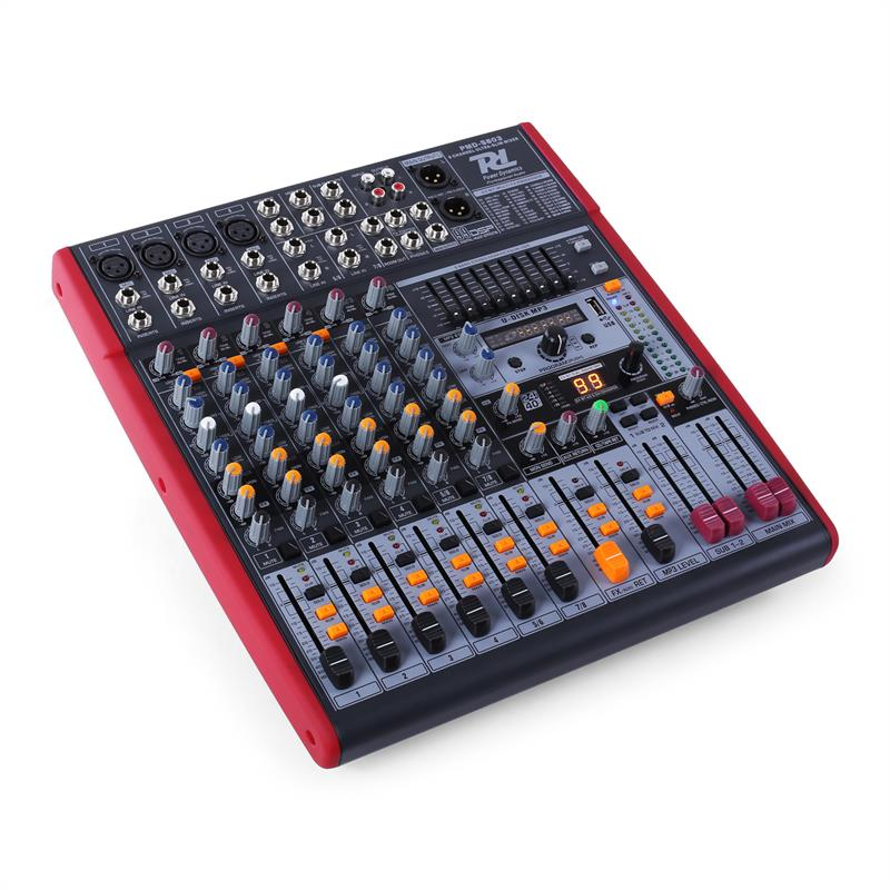 Power dynamics pdm s803 table de mixage 8 pistes usb dsp for Table de mixage zmx 52