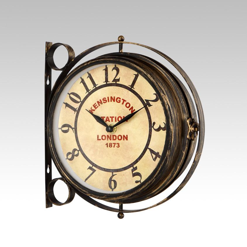 sil a horloge de gare kensington en m tal 20 cm comparer avec. Black Bedroom Furniture Sets. Home Design Ideas