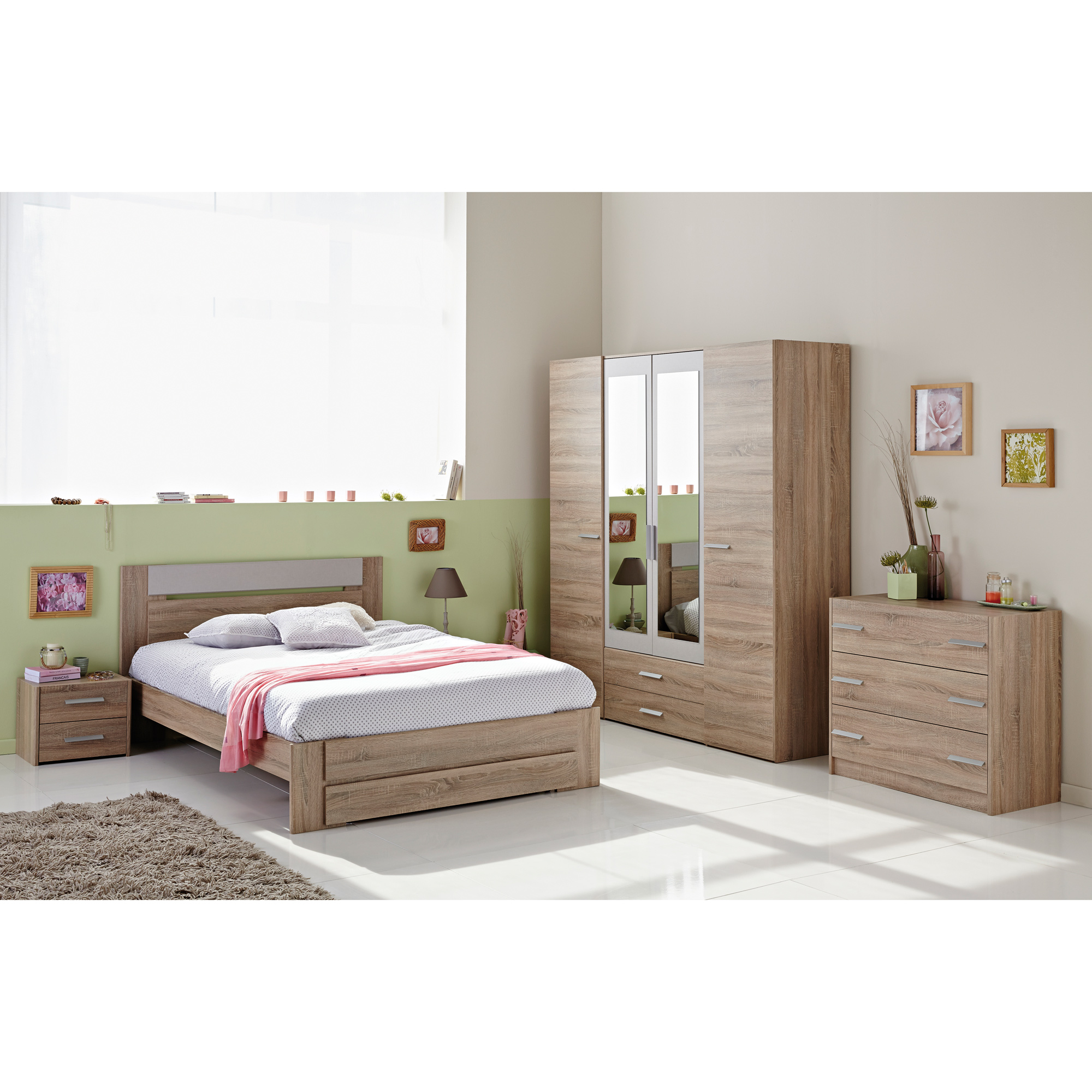 chevet tweed en bois comparer avec. Black Bedroom Furniture Sets. Home Design Ideas