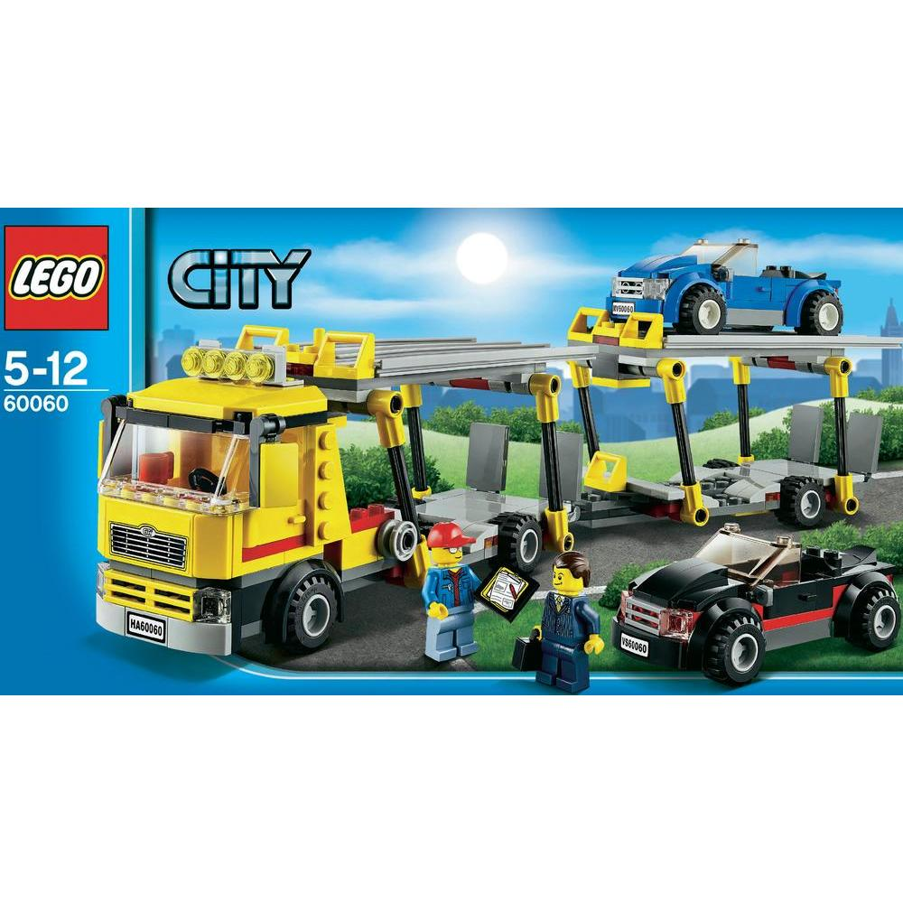 lego 60060 city le camion de transport des voitures comparer avec. Black Bedroom Furniture Sets. Home Design Ideas