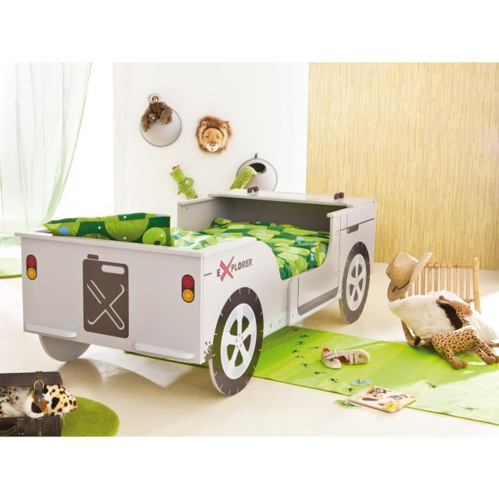 someo lit enfant jeep safari avec sommier 90 x 190 cm comparer avec. Black Bedroom Furniture Sets. Home Design Ideas