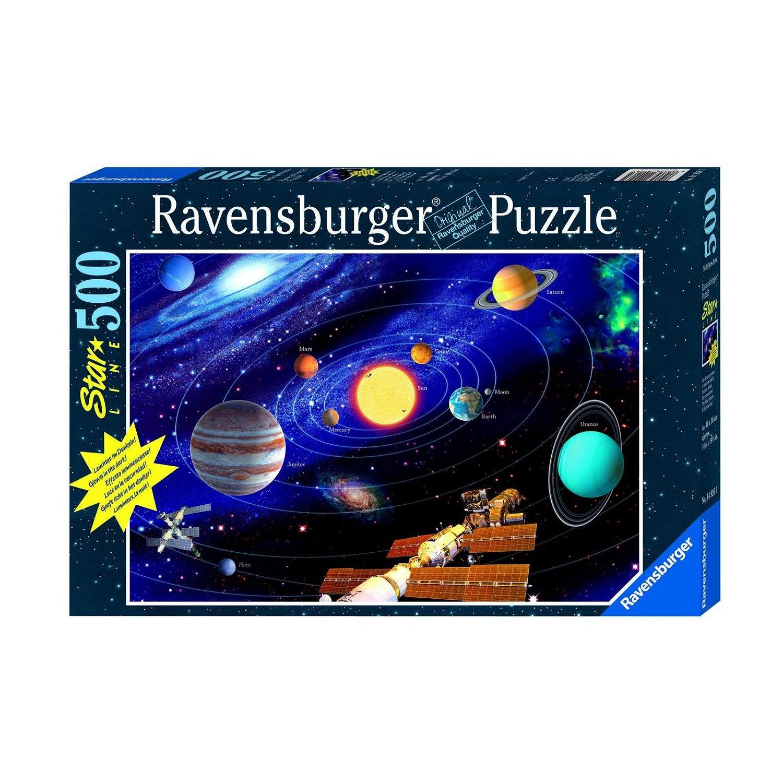 ravensburger puzzle phosphorescent star line syst me solaire 500 pi ces comparer avec. Black Bedroom Furniture Sets. Home Design Ideas