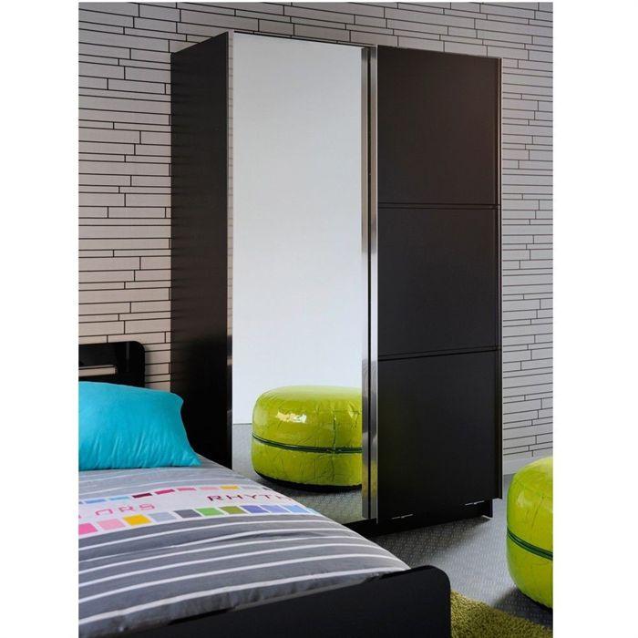 armoire start 2 portes 1 miroir 121 x 200 cm comparer avec. Black Bedroom Furniture Sets. Home Design Ideas