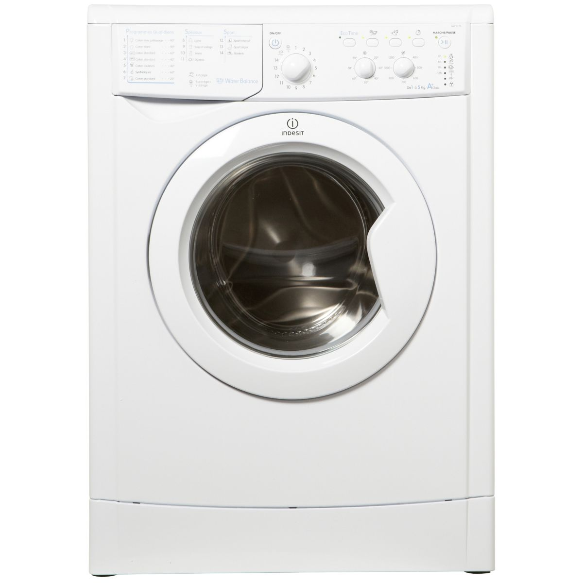 indesit iwc5125 lave linge frontal 5 kg comparer avec. Black Bedroom Furniture Sets. Home Design Ideas