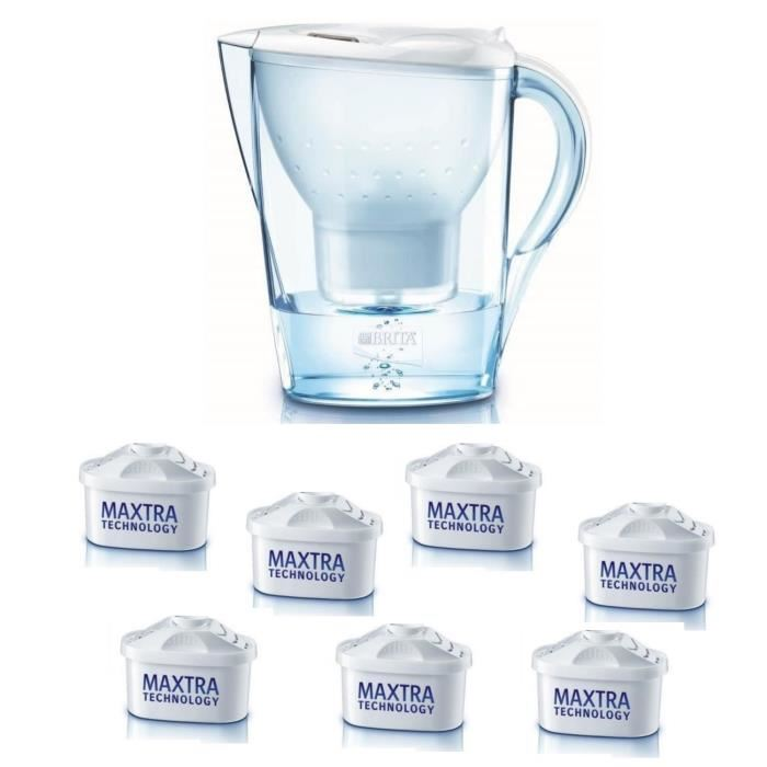 brita marella lot carafe filtrante 2 4 l 7 cartouches maxtra comparer avec. Black Bedroom Furniture Sets. Home Design Ideas