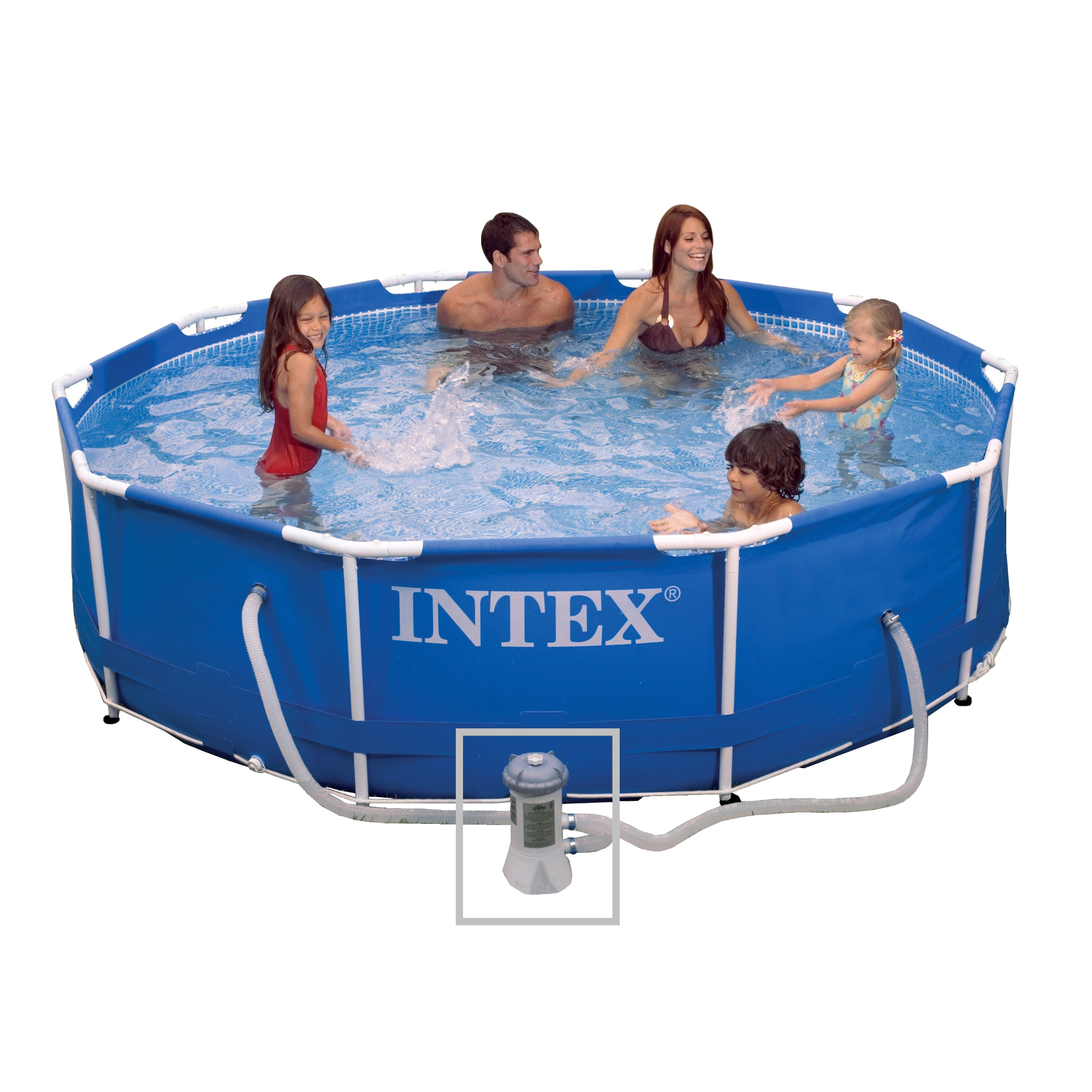 Intex 28202fr piscine hors sol tubulaire ronde 305 x - Piscine hors sol intex ...