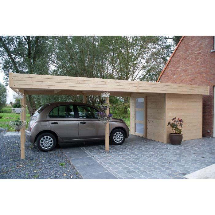 solid s8389 abri de jardin randers en bois 28 mm avec carport 4 60 11 33 m2 comparer avec. Black Bedroom Furniture Sets. Home Design Ideas
