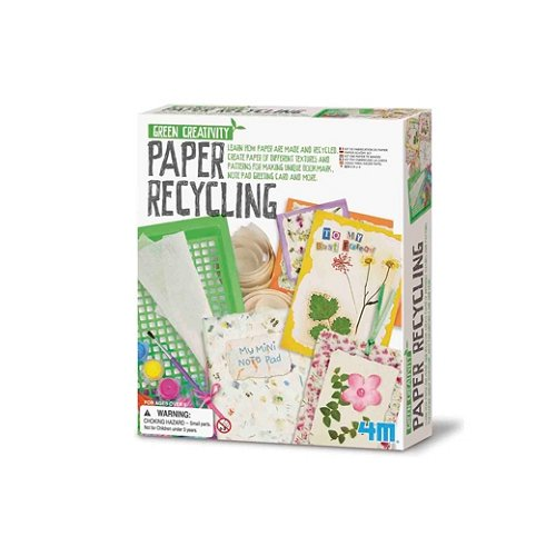4m kidz labs kit green creativity recycler du papier comparer avec. Black Bedroom Furniture Sets. Home Design Ideas