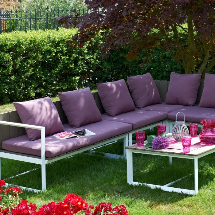 Dcb garden salon de jardin m lia en aluminium comparer for Dcb garden salon de jardin