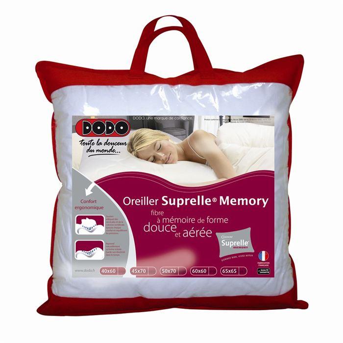 Dodo oreiller suprelle memory 65 x 65 cm comparer avec - Dodo oreiller ergonomique ...