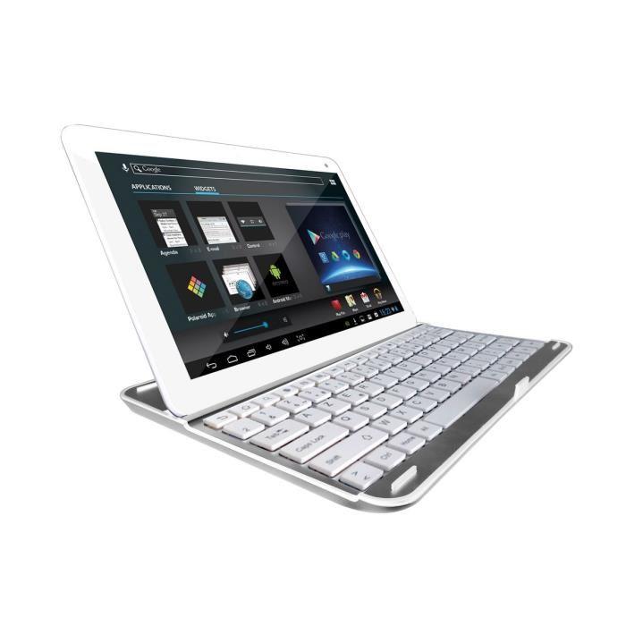polaroid platinium 10 1 16 go tablette tactile sous android 4 4 avec clavier bluetooth. Black Bedroom Furniture Sets. Home Design Ideas