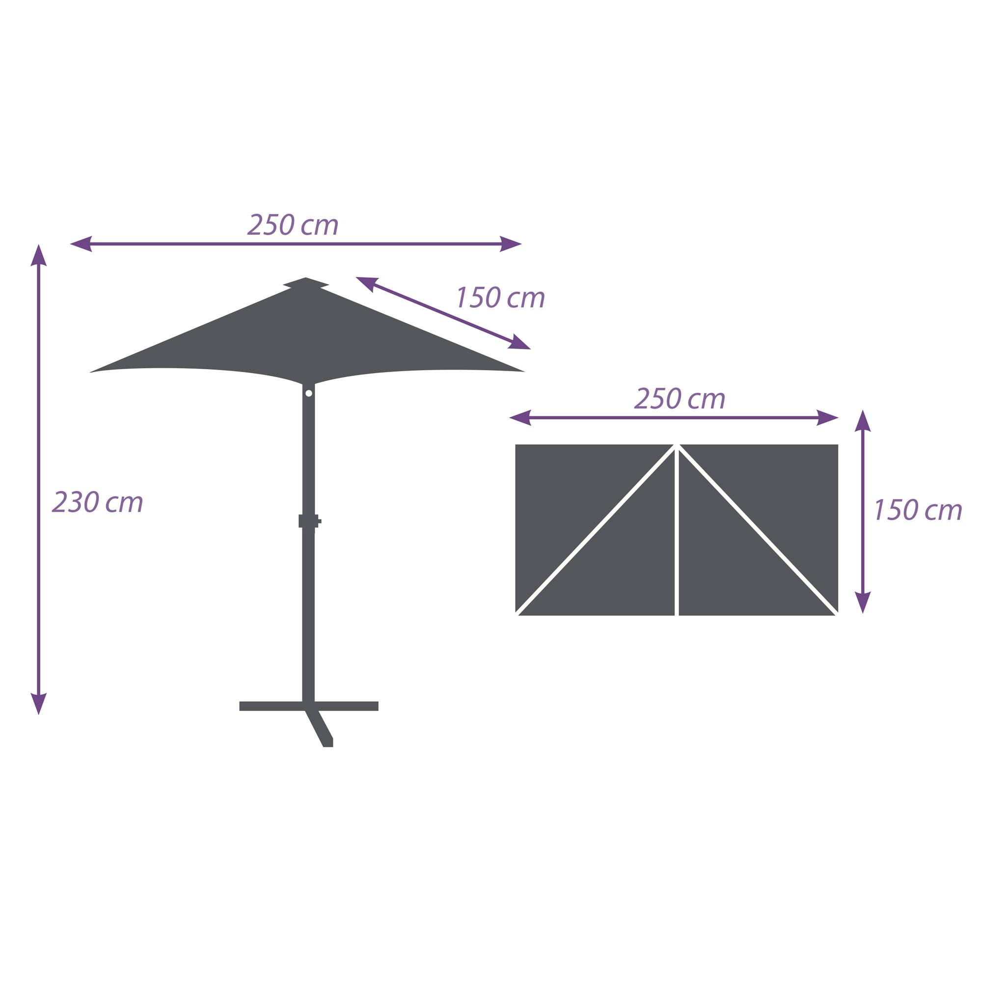 Parasol d port de balcon rectangulaire 250 x 150 cm a - Parasol deporte rectangulaire 4x3 ...