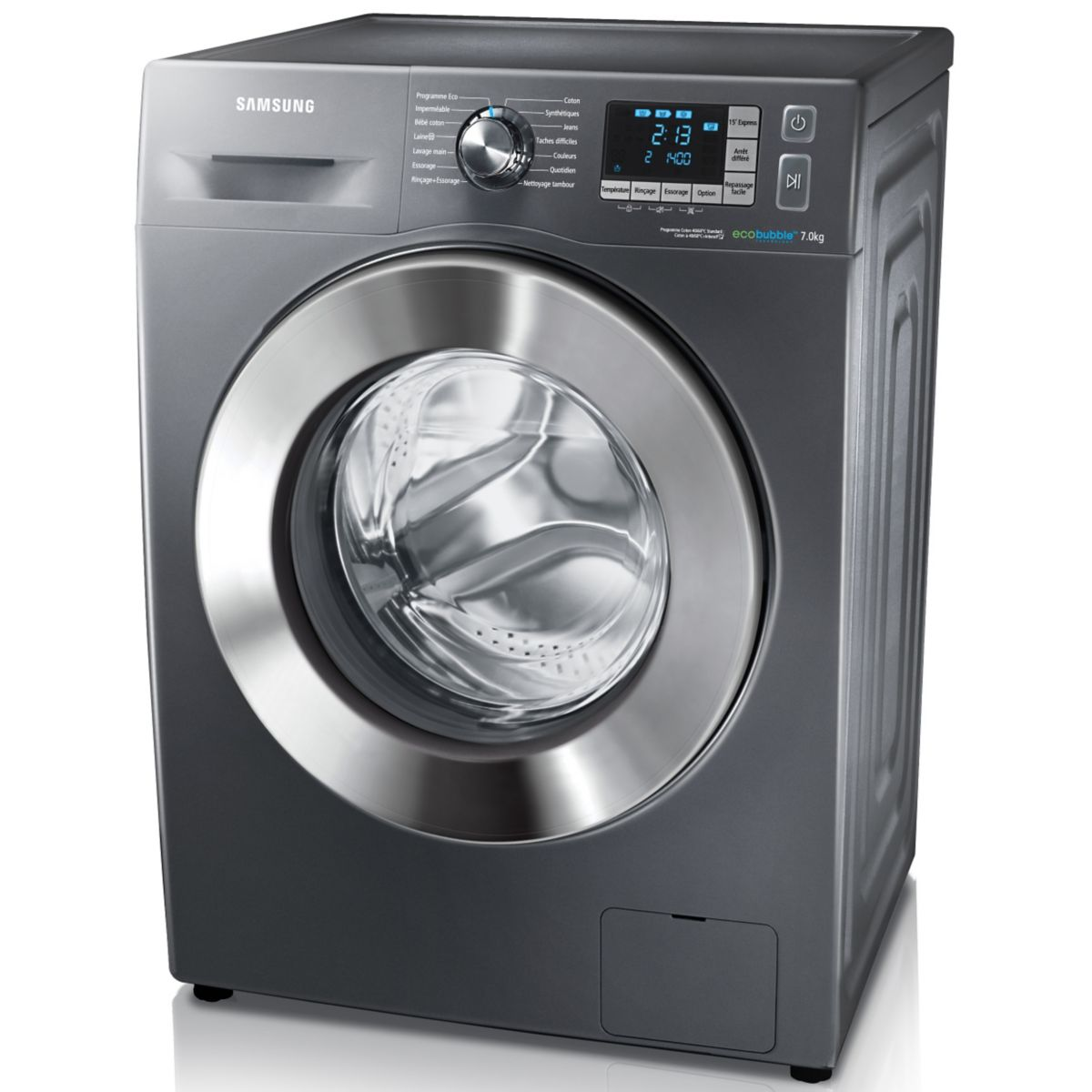 samsung wf70f5e5w4 lave linge frontal eco bubble 7 kg. Black Bedroom Furniture Sets. Home Design Ideas