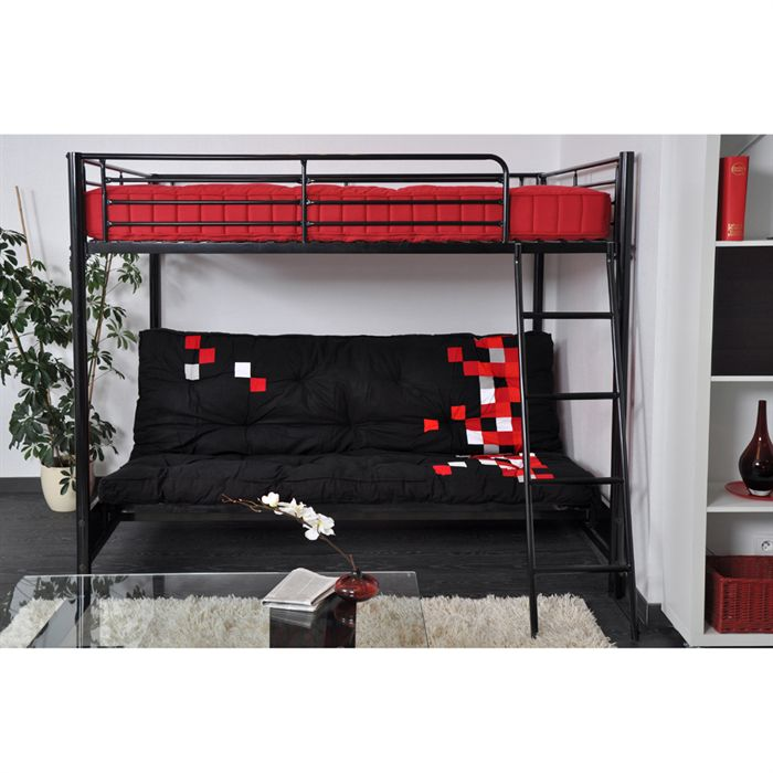 lit mezzaclic hugo 140 x 190 cm comparer avec. Black Bedroom Furniture Sets. Home Design Ideas