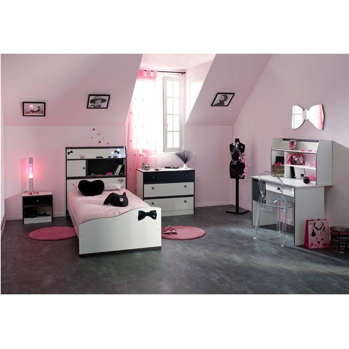 Commode pretty 3 tiroirs comparer avec - Chambre blanche et noire ...