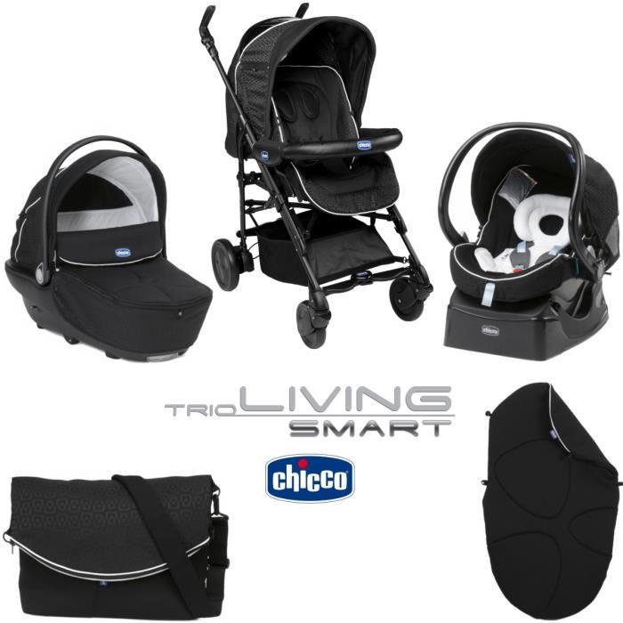 chicco living smart combin trio avec poussette nacelle. Black Bedroom Furniture Sets. Home Design Ideas